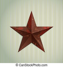 Grunge star - Grunge military metal red star. Rusty texture.