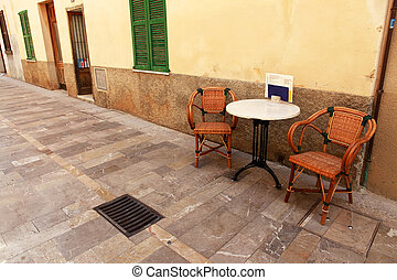Alcudia Old Town - Small restaurant in Alcudia. Spain....