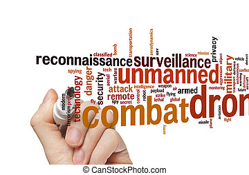 Combat drone word cloud - Combat drone concept word cloud...