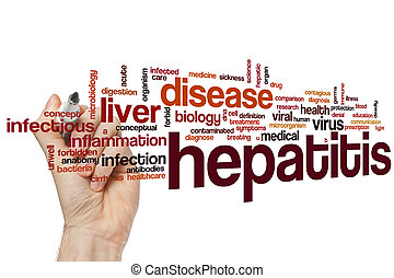 Hepatitis word cloud concept