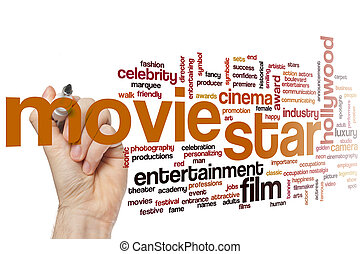 Movie star word cloud concept