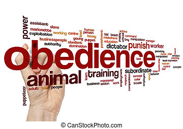 Obedience word cloud - Obedience concept word cloud...