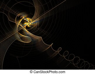 Abstract fractal design - Composition of colors and...