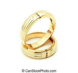 oro, boda, anillos