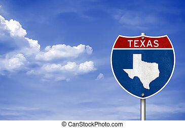 Texas road sign concept
