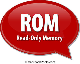 ROM acronym definition speech bubble illustration - Speech...