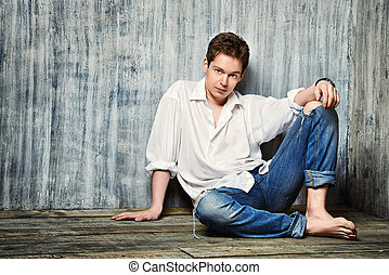 relaxed young man