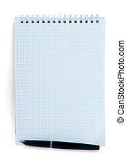 notepad and fountain pen