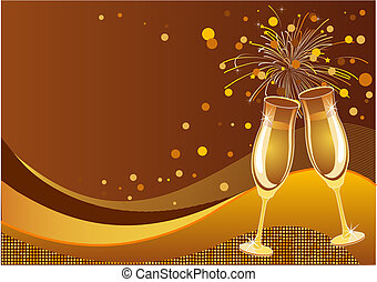 Celebration background - Shining New Year's Eve...