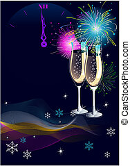 New Year background - New Years Eve celebration vector...