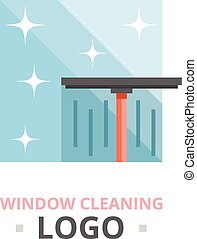 Window cleaning logo concept