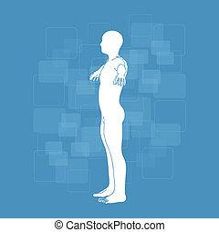 Schematic description of the human body - medicine...
