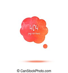 Error colorful watercolor message Vector speech bubble
