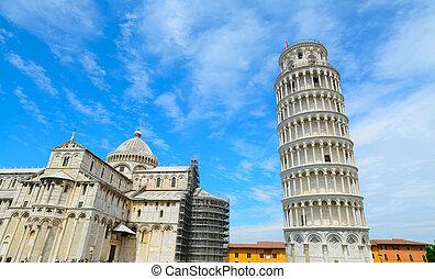 Piazza dei Miracoli in Pisa, Italy - world famous Piazza dei...