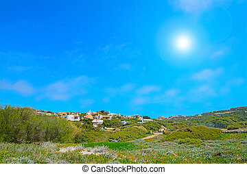 small village under a shining sun in Gallura, Sardinia