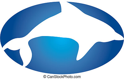 Dolphin logo - Dolphin silhouette