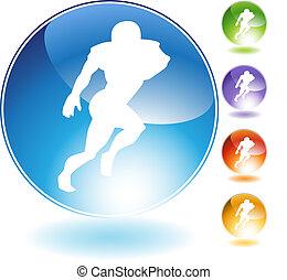 Reciever Football Crystal Icon