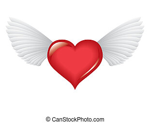 Winged love heart - Passion and peace