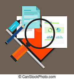 RFP Request for propossal proposal flat icon illustration