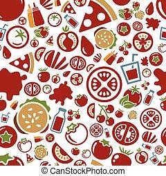 tomato seamless pattern