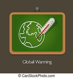 global warming education board class temperature earth