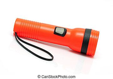 Bright Orange Flashlight - Bright orange safety flashlight...