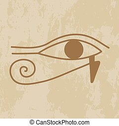 hieroglyph of the eye of Providence - Egypt, the hieroglyph...