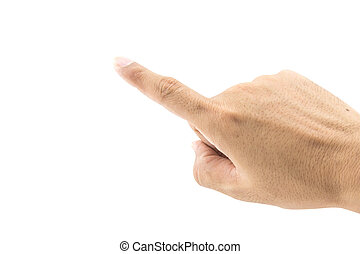 hand wagging on white background, clipping path