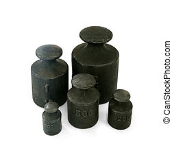 iron weights unit - Different iron weights unit isolated on...