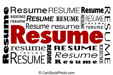 Resume Word Collage Job Candidate Skills Experience...