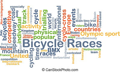 Bicycle races background concept - Background concept...