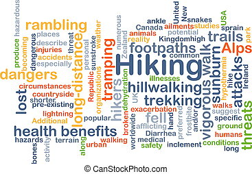 Hiking background concept - Background concept wordcloud...