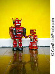toys - Father and son Robot toys