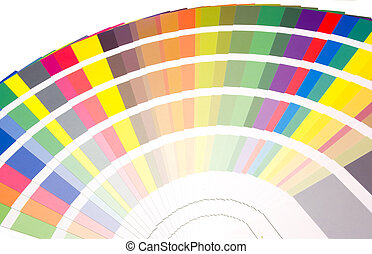 ventilador, cores, tons, Amostras