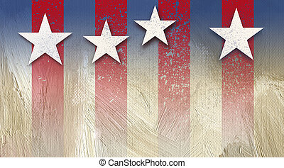 American Stars and Stripes Background Distressed - Graphic...