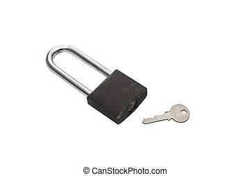 key and master key on white background