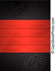 Grunge black background with red stripes
