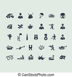 Set of war icons - war vector set of modern simple icons