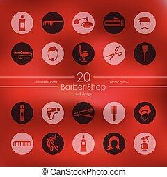 Set of barber shop icons - barber shop modern icons for...