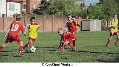 Holding the Ball in Soccer - Goalkeeper catching the...