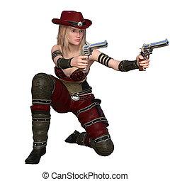 Pistolero, hembra