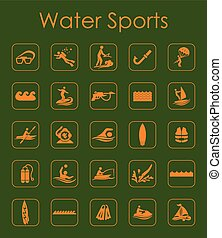 Set of water sports simple icons - It is a set of water...