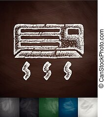 air conditioning icon. Hand drawn vector illustration....