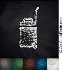 baggage icon Hand drawn vector illustration Chalkboard...