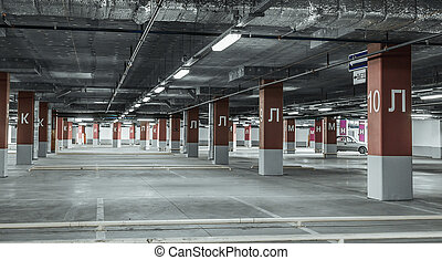 Underground garage parking