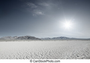 desert - panoramic view of nice hot Nevada  desert daytime