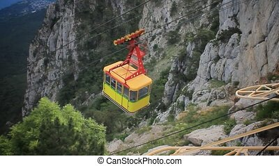 Cable Car in Ai-Petri, Crimea, HD