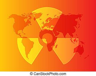 radiación, símbolo