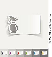 realistic design element. sprayer - sprayer paper sticker...