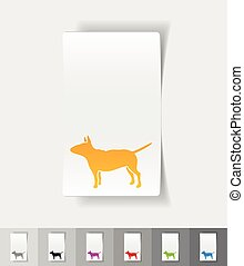 realistic design element bull terrier - bull terrier paper...